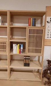 古典情怀的新中式书柜,既是对传统文化的传承,又是对人与自然的深刻考究#定制家具#全屋定制#新中式书柜#禅意家具