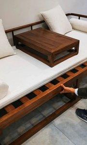 小户型首选的罗汉床,既可以当三人沙发又可以当双人床,大家见过吗?#罗汉床#沙发#贵妃榻#新中式家具#家具定制##新主播来报道