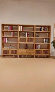充满了书香之气的书柜,既可以放书本,又可以放一些文玩装饰品#书柜#新中式书架#博古架#书房家具#定制家具#