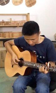 示范一小段无题,学吉他跟着我来#吉他教学
