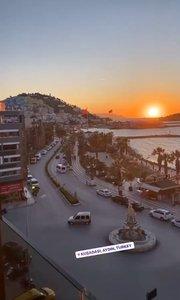 土耳其库萨达斯的日落?