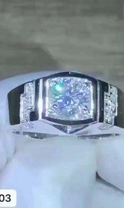 18k  顶级莫桑钻戒指✨ 主石:80分 编号:4403