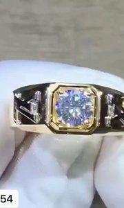 18k  顶级莫桑钻戒指✨ 主石:1克拉 编号:5054