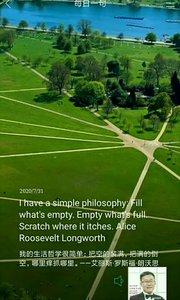 我的生活哲学很简单:把空的装满,把满的倒空,哪里痒抓哪里。——艾丽斯·罗斯福·朗沃思