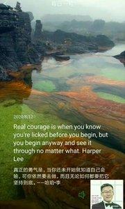 真正的勇气是,当你还未开始就知道自己会输,可你依然要去做,而且无论如何都要把它坚持到底。——哈珀·李