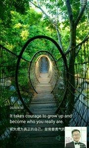 长大成为真正的自己,是需要勇气的。