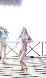 @关妙甜@鑫大宝热舞Baby,不一样的比基尼?双人舞?
