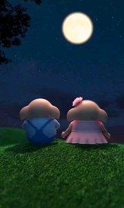 月亮它偷偷告诉我,你思念的人,也很思念你#猪小屁
