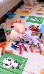 我把家里画成花,妈妈气的泪哗哗!#猪小屁