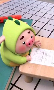 别看人小,做作业的方法还不少,哈哈#猪小屁