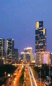 夜幕下郑州街景#郑州