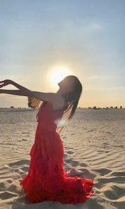赤道、沙滩、朝阳 遥祝祖国人民一切安好㊗