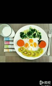 【营养早餐】 ? 蔬菜,水果, ? 牛奶,鸡蛋, 还有我最爱的营养补充剂, 响应国家号召,你做到了吗?