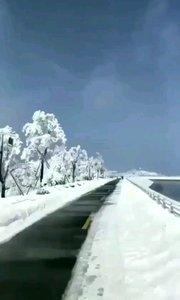 浙江省湖州安吉天荒坪雪景美景